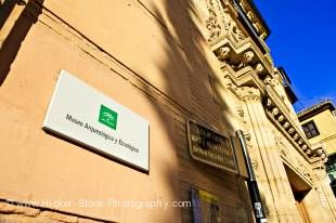 Stock photo of the facade of Casa de Castril, the Museo Arqueologico and Etnografico, a national monument in the Albayzin district - a UNESCO World Heritage Site, City of Granada, Province of Granada, Andalusia (Andalucia), Spain, Europe.