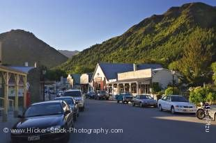Stock photo of the streets in historical Arrowtown, Central Otago, South Island, New Zealand.