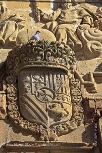 Stock photo of Details above the door of Iglesia de la Santisima Trinidad (church), Town of Ubeda - a UNESCO World Heritage Site, Province of Jaen, Andalusia (Andalucia), Spain, Europe.