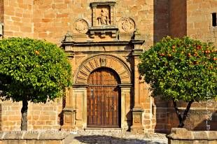 Stock photo of the Iglesia de San Mateo in Plaza de la Constitucion, town of Banos de la Encina, Province of Jaen, Andalusia (Andalucia), Spain, Europe.