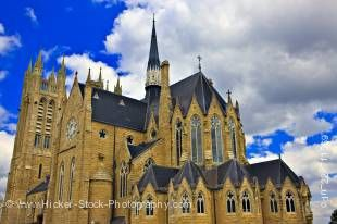 Stock photo of the beautiful Our Lady of the Immaculate Church in the town of Guelph, Ontario, Canada.