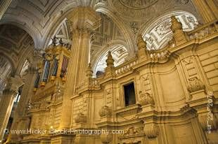 Stock photo of the interior of the Cathedral of Jaen, Sagrario District, City of Jaen, Province of Jaen, Andalusia (Andalucia), Spain, Europe.