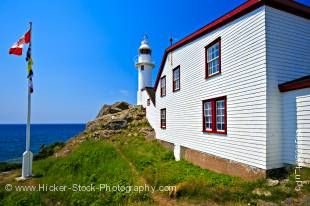 Stock photo of the Lobster Cove Lighthouse in Lobster Cove, Gros Morne National Park, UNESCO World Heritage Site, Viking Trail, Trails to the Vikings, Highway 430, Northern Peninsula, Great Northern Peninsula, Newfoundland Labrador, Newfoundland, Canada.