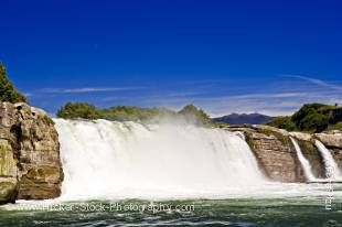 Stock photo of Maruia Falls, Maruia Falls Scenic Reserve, near Murchison, West Coast, South Island, New Zealand.