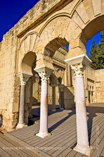 Stock photo of the arches and columns of the Edificio Basilical Superior (The Upper Basilica Building), Medina Azahara (Medinat al-Zahra), Province of Cordoba, Andalusia (Andalucia), Spain, Europe.