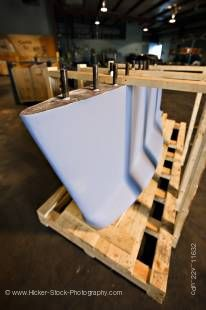 Stock photo of lead keel sits on a wood pallet, Mississauga, Ontario, Canada.