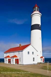 Stock photo of the tallest lighthouse in Atlantic Canada is the Point Amour Lighthouse, a Provincial Historic Site at Amour Point in L'Anse-Amour, along the Labrador Coastal Drive, Highway 510, Strait of Belle Isle, Viking Trail, Trails to the Vikings, So