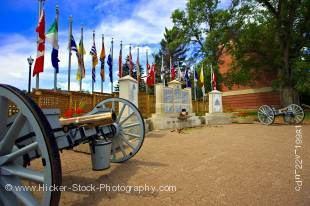 Stock photo of the Memorial Monument and Honour Role at the RCMP Academy, City of Regina, Saskatchewan, Canada.