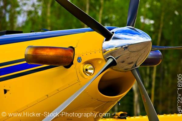 Stock photo of Air Tractor AT-802 Propeller Red Lake Ontario Canada
