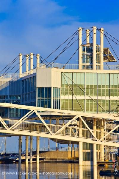 Stock photo of Atlantis Event Centre and Blue Sky at Ontario Place on the shore of Lake Ontario Toronto Ontario Can