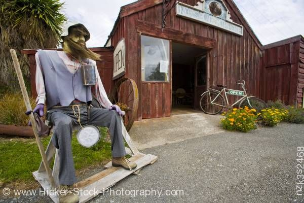 Stock photo of Funny Nicols' Blacksmith Shop bearded man in Duntroon Waitaki Valley North Otago New Zealand