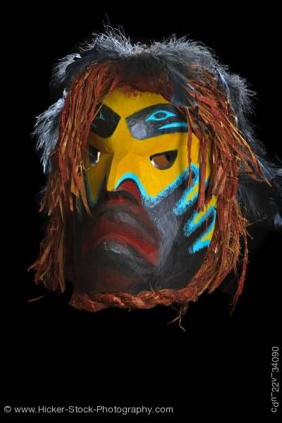 Stock photo of Ghost Mask Beau Dick Kwakwaka'wakw First Nations Artist Vancouver Island British Columbia Canada