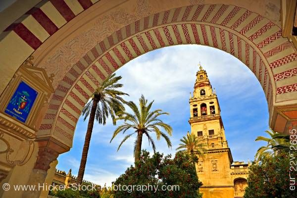 Stock photo of Bell tower cathedral City of Cordoba UNESCO World Heritage Site Province of Cordoba Andalusia Spain