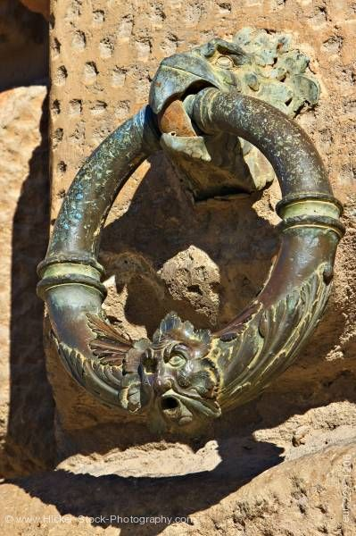 Stock photo of Bronze ring eagle beak Palace of Charles V The Alhambra Granada