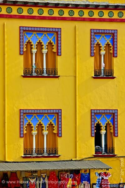 Stock photo of Facade of building outside Mezquita City of Cordoba Province of Cordoba Andalusia Spain