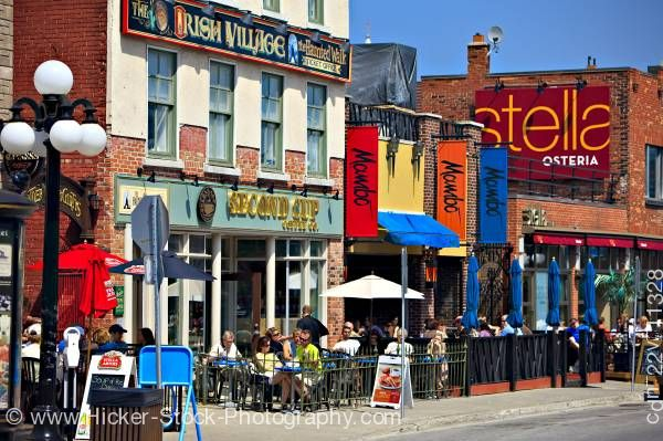 Stock photo of Cafe Restaurants Byward Market City of Ottowa Ontario Canada