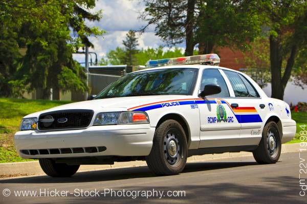 Stock photo of Canadian police car rcmp academy City of Regina Saskatchewan Canada