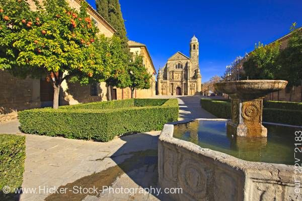 Stock photo of Capilla del Salvador Plaza del Vazquez de Molina Town of Ubeda Province of Jaen Andalusia Spain