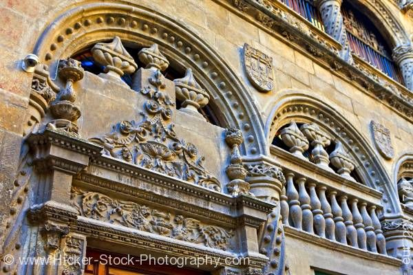 Stock photo of Entrance details to Capilla Real y Museo in City of Granada Province of Granada Andalusia Spain