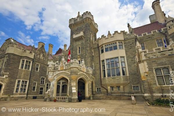 Stock photo of Medieval Casa Loma Castle in Toronto Ontario
