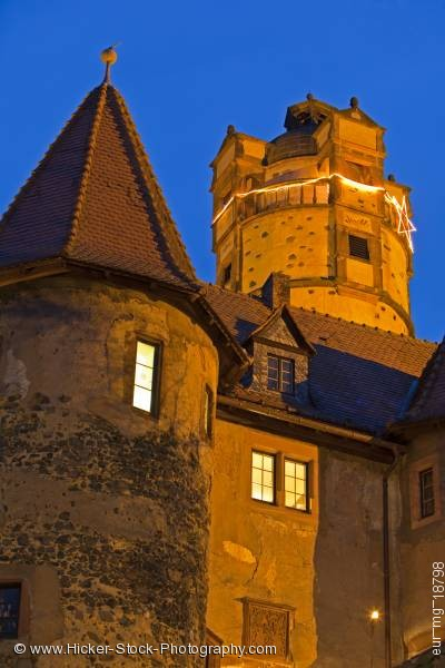 Stock photo of Towers architecture Burg Ronneburg Castle Hessen Germany