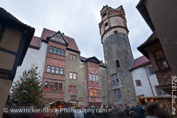 Stock photo of Tower facades buildings castle Burg Ronneburg Germany