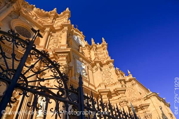 Stock photo of Facade of Cathedral of Guadix in town of Guadix Province of Granada Andalusia Spain