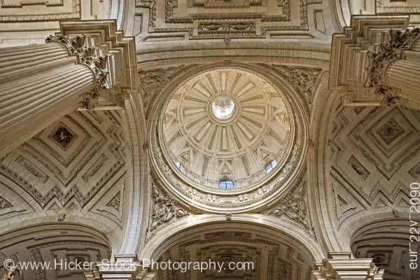 Stock photo of Dome interior of the Cathedral of Jaen Sagrario District City of Jaen Province of Jaen Andalusia