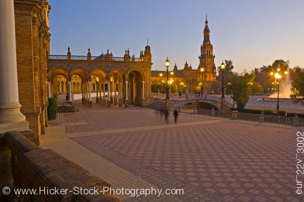Stock photo of Central building Plaza de Espana Parque Maria Luisa the City of Sevilla Province of Sevilla Andalusi