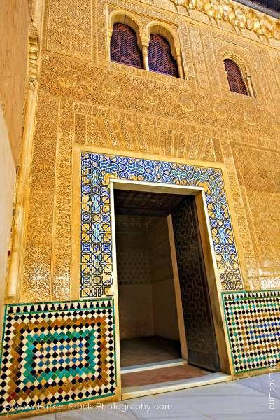 Stock photo of Chamber of Comares facade The Royal House La Alhambra City of Granada Andalusia Spain