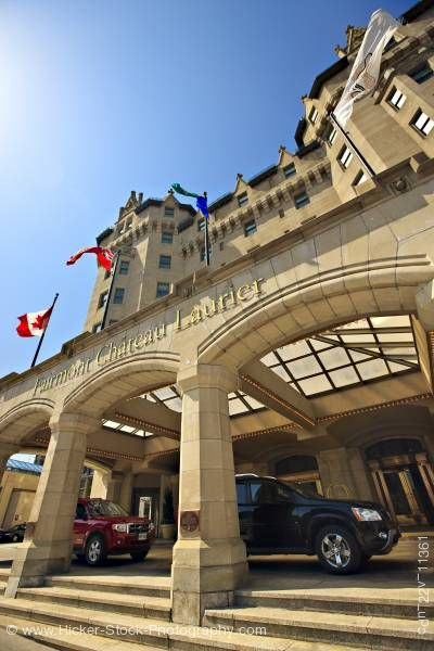 Stock photo of Fairmont Chateau Laurier Hotel city of Ottawa Ontario Canada