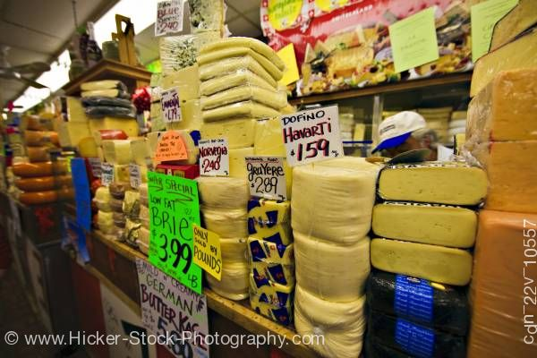 Stock photo of Cheese Shop Kensington Market Toronto Ontario Canada