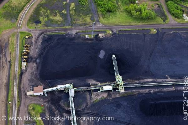 Stock photo of Aerial picture Coal Pit Lake Superior City of Thunder Bay Ontario Canada