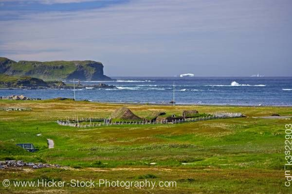 Stock photo of Iceberg Alley Atlantic Ocean coastline Newfoundland Labrador Canada