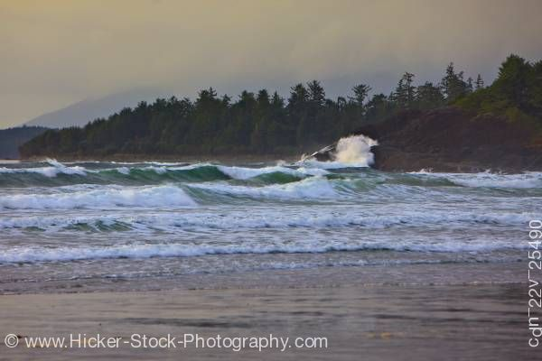 Stock photo of Cox Bay Pacific Ocean Clayquot Sound West Coast Vancouver Island British Columbia Canada