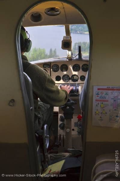 Stock photo of Cockpit de Havilland DHC-3 Otter Aircraft Red Lake Ontario Canada