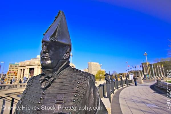 Stock photo of Statue of Lieutenant Colonel Charles Michael d'Irumberry de Salaberry