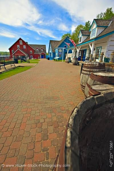 Stock photo of Discovery Harbour King's Wharf Penetanguishene Bay Midland Ontario