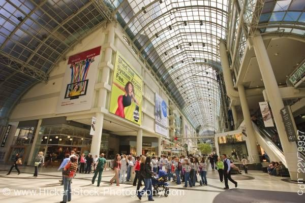 Stock photo of Interior Eaton Centre Toronto Ontario Canada