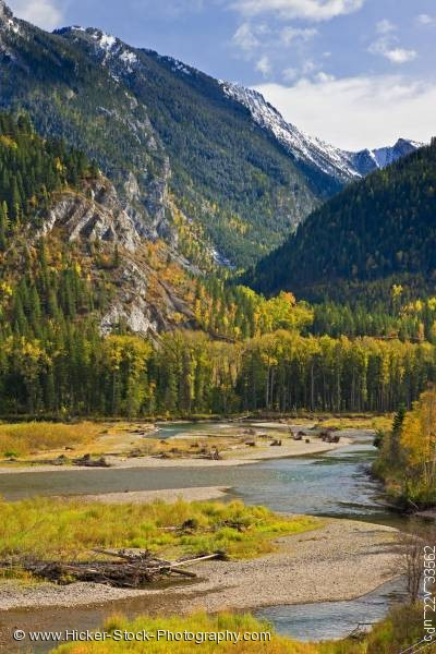 Stock photo of Elk River Mount Broadwood Heritage Conservation Area British Columbia Canada