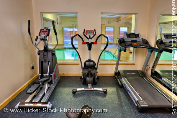 Stock photo of Exercise equipment Black Bear Resort & Spa Port McNeill Northern Vancouver Island Vancouver