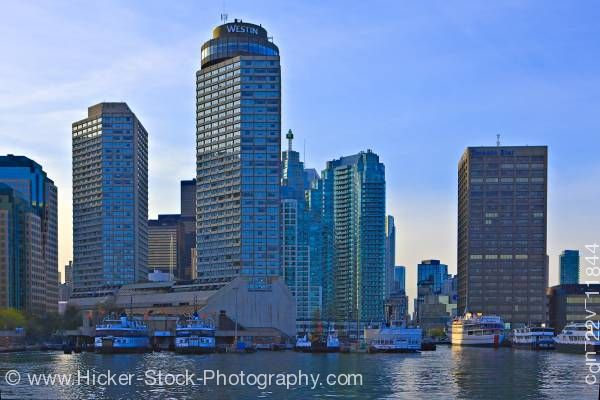 Stock photo of Ferry Terminal and skyline of Toronto Lake Ontario