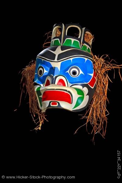 Stock photo of Mask by Native First Nation Artist Original West Coast Native Art Just Art Gallery in Port McNeill