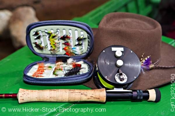 Stock photo of Fly fishing gear Labrador Newfoundland