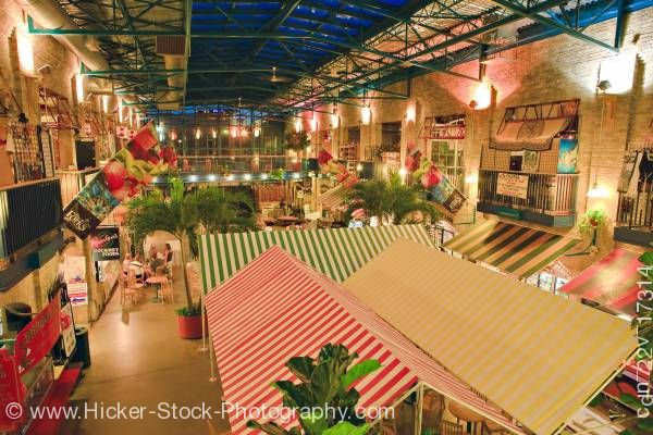 Stock photo of The Forks Market Interior National Historic Site City of Winnipeg Manitoba Canada
