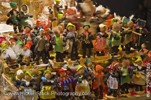 Stock photo of Display figures fruit and nuts Christkindlmarkt Christmas Market