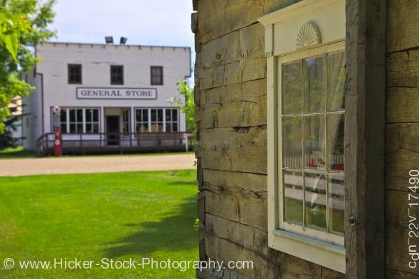 Stock photo of General Store From Beside Hochfeld House Mennonite Heritage Village Steinbach Manitoba Canada