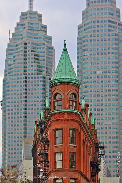Stock photo of Gooderham Building Toronto City Ontario Canada