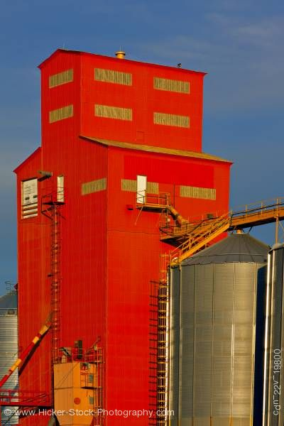 Stock photo of Grain elevator town of Morse Saskatchewan Canada