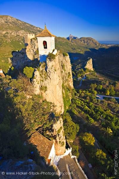 Stock photo of Church belfry Castell de Guadalest Guadalest Costa Blanca Province of Alicante Comunidad Valenciana